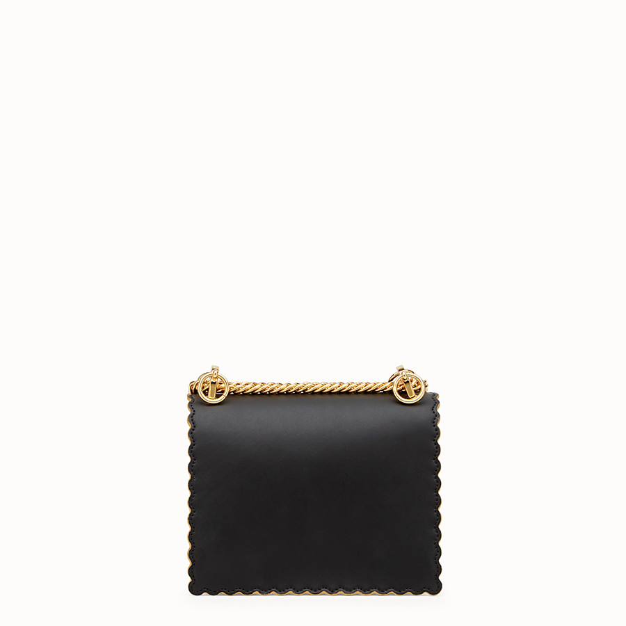 FENDI KAN I SMALL - Mini-sac en cuir noir - view 3 detail