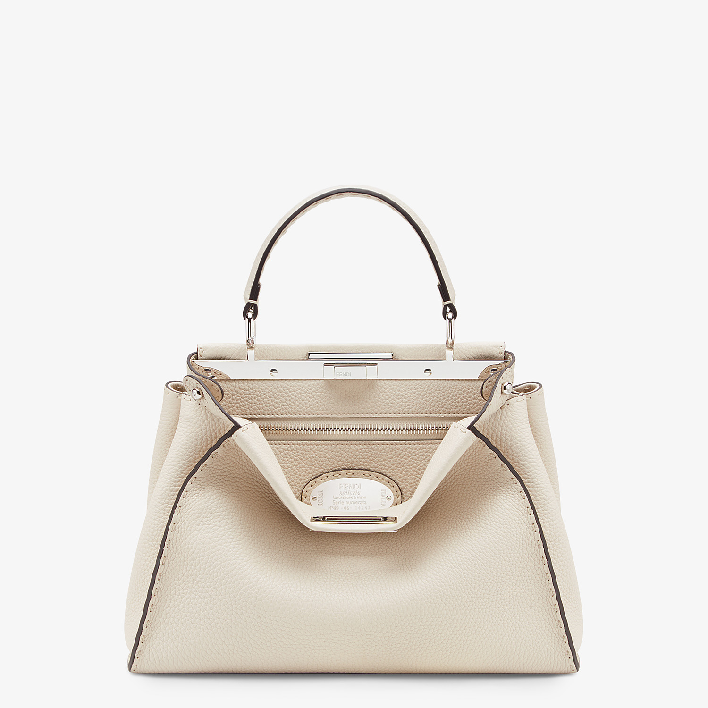 FENDI PEEKABOO ICONIC MEDIUM - White leather bag - view 1 detail