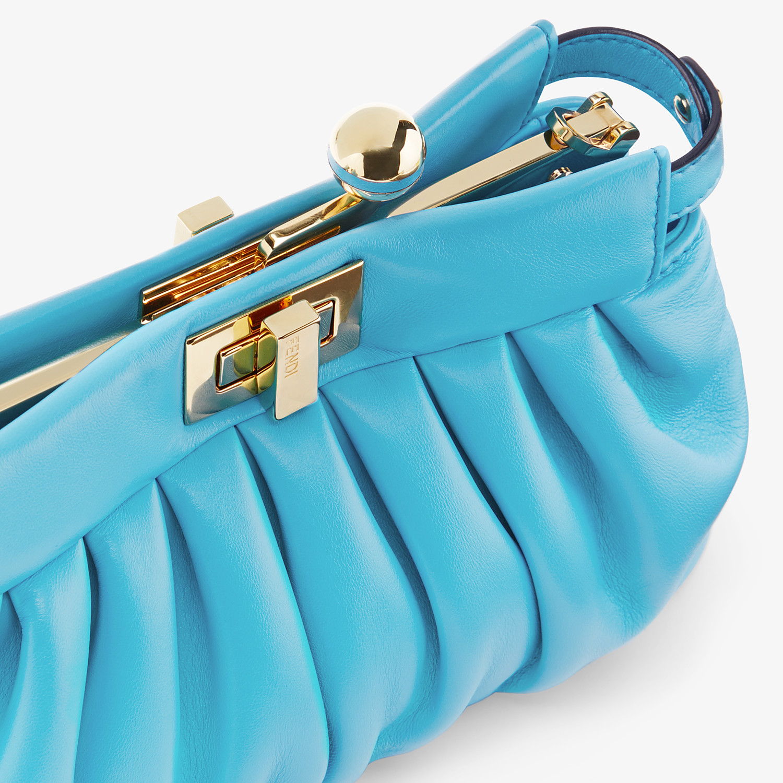 FENDI PEEKABOO CLICK - Light blue nappa leather pochette - view 5 detail