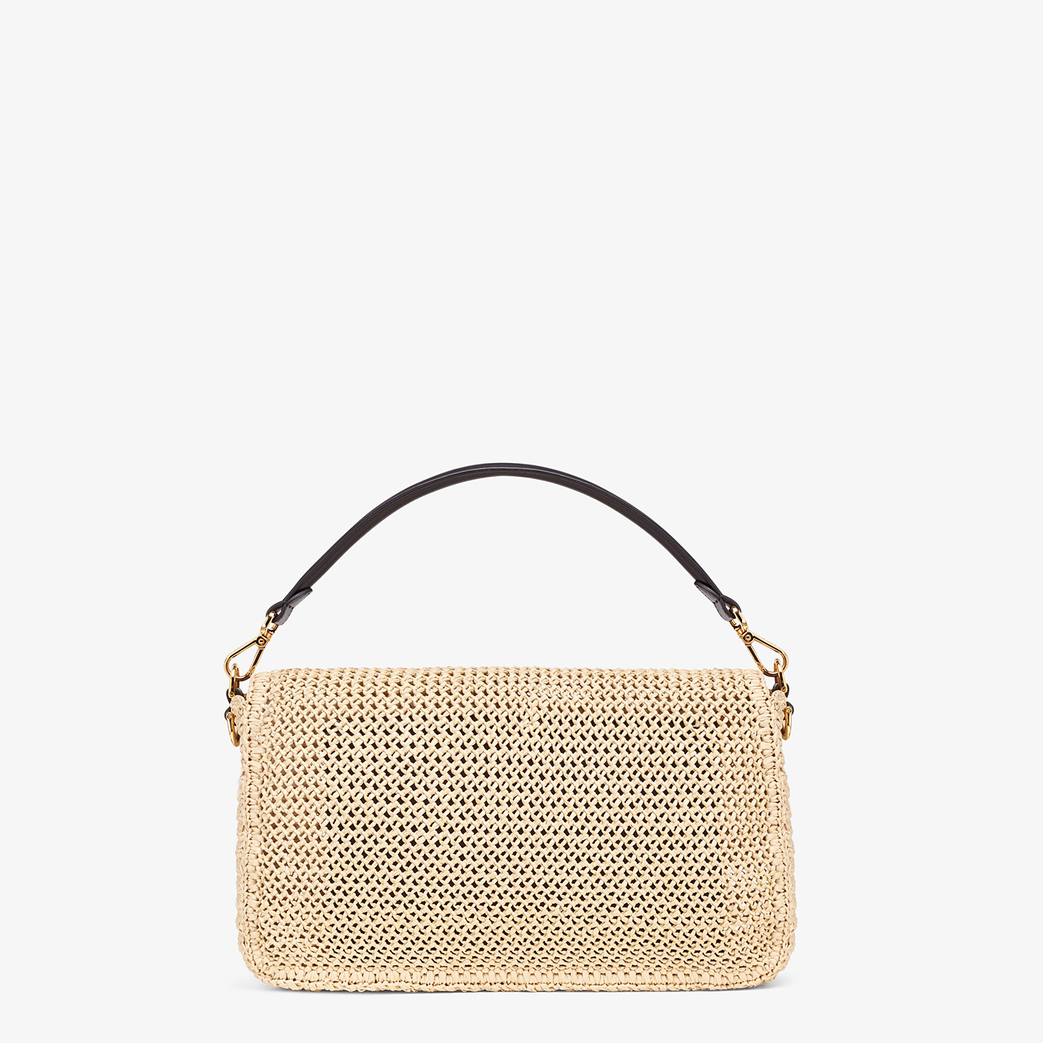 FENDI BAGUETTE LARGE - Natural straw bag - view 4 detail