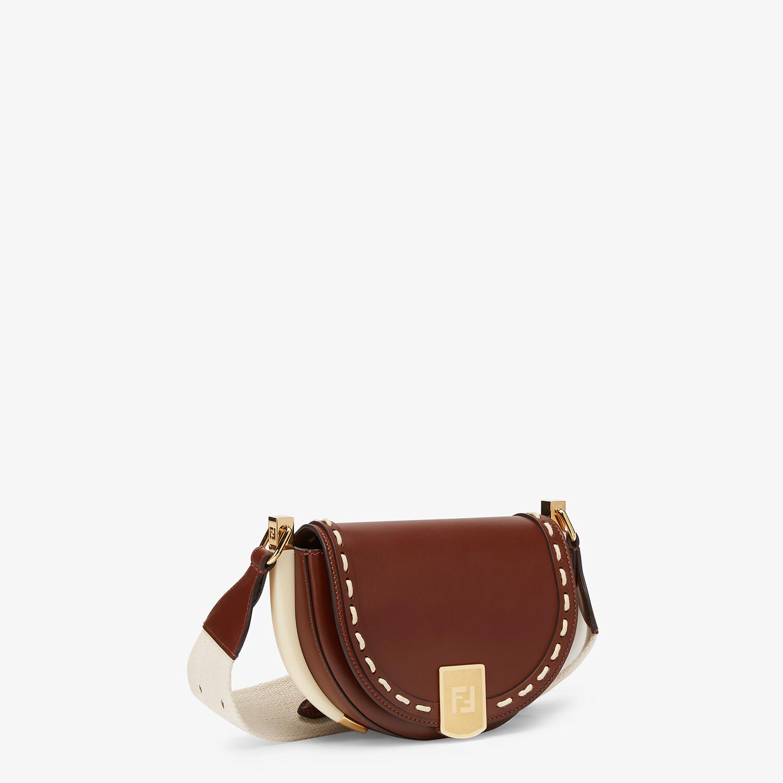 FENDI MOONLIGHT - Brown leather bag - view 2 detail