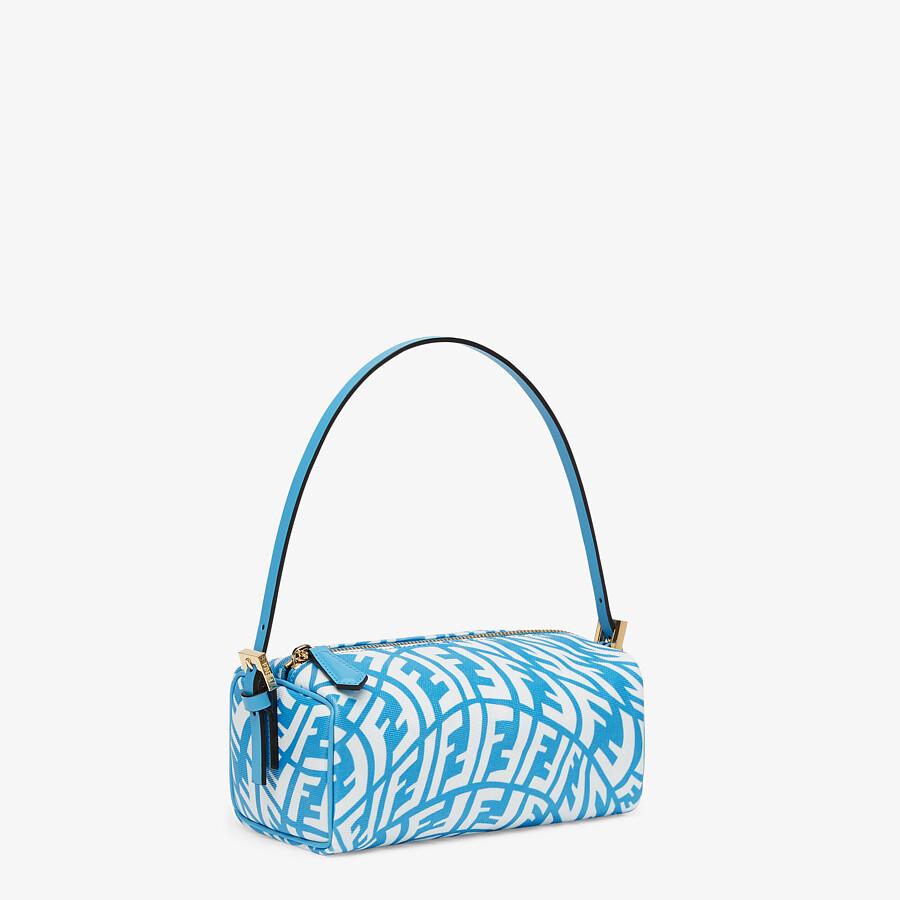 FENDI MINI BAG - Blue glazed canvas mini-bag - view 3 detail