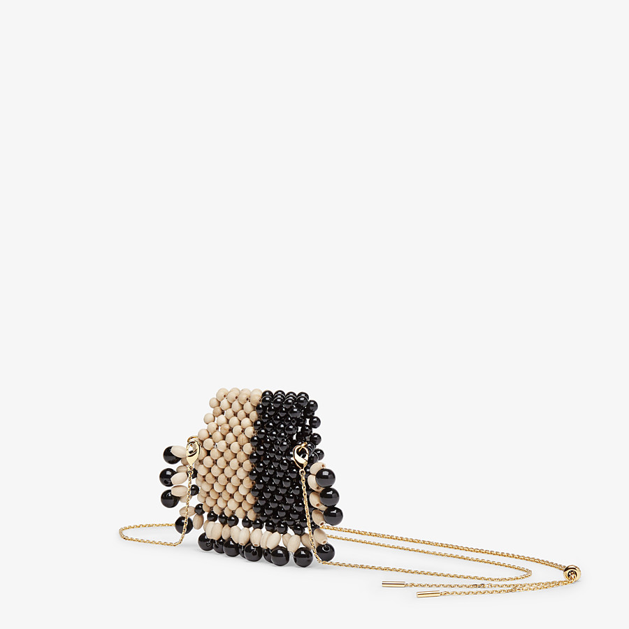 FENDI PICO BAGUETTE CHARM - Charm with beige beads - view 2 detail