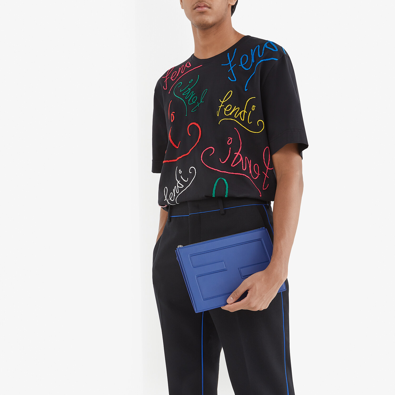 FENDI T-SHIRT - Black jersey T-shirt - view 4 detail