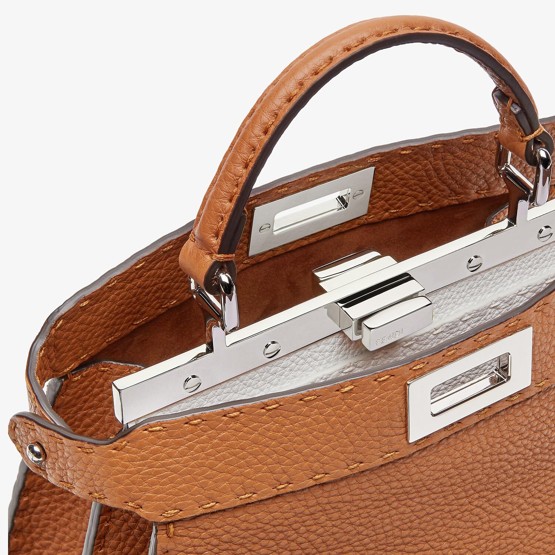 FENDI PEEKABOO I SEEU SMALL - Brown Selleria bag - view 5 detail