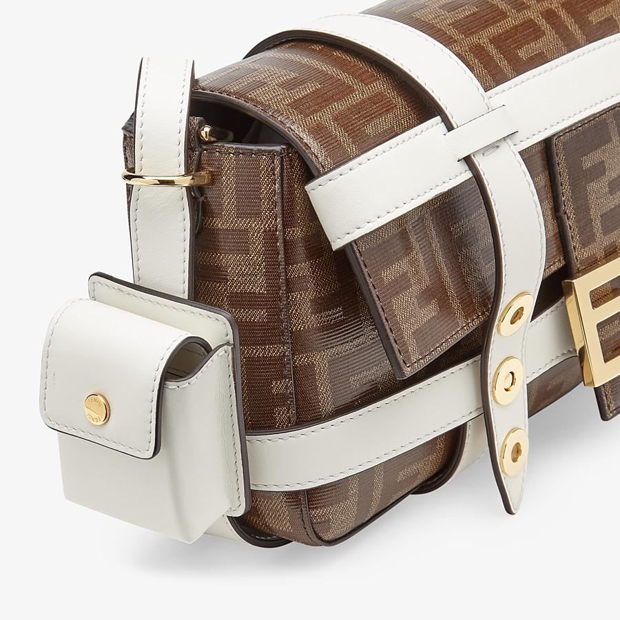 FENDI BAGUETTE CAGE - Tasche aus Stoff in Braun - view 6 detail