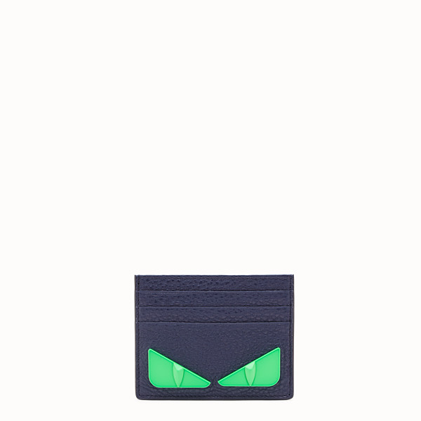 FENDI CARD HOLDER - Blue Romano leather card holder - view 1 small thumbnail