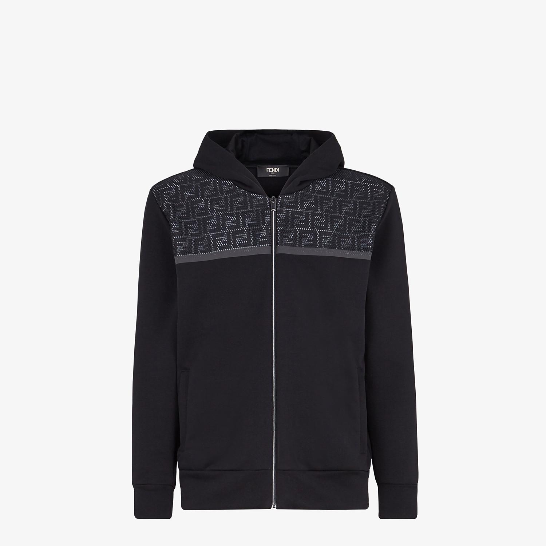 FENDI SWEATSHIRT - Black jersey sweatshirt - view 1 detail