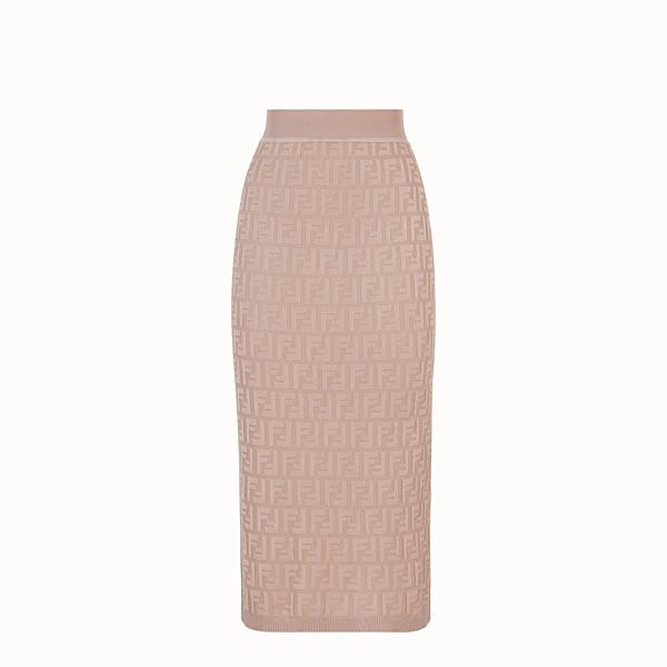 FENDI 半截裙 - 米色人造絲半截裙 - view 1 小型縮圖