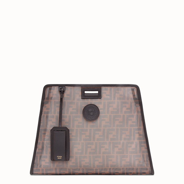 FENDI MEDIUM PEEKABOO DEFENDER - Brown mesh Peekaboo cover - view 1 small thumbnail