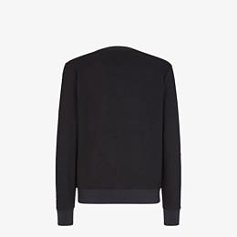 FENDI SWEATSHIRT - Black cotton sweatshirt - view 2 thumbnail