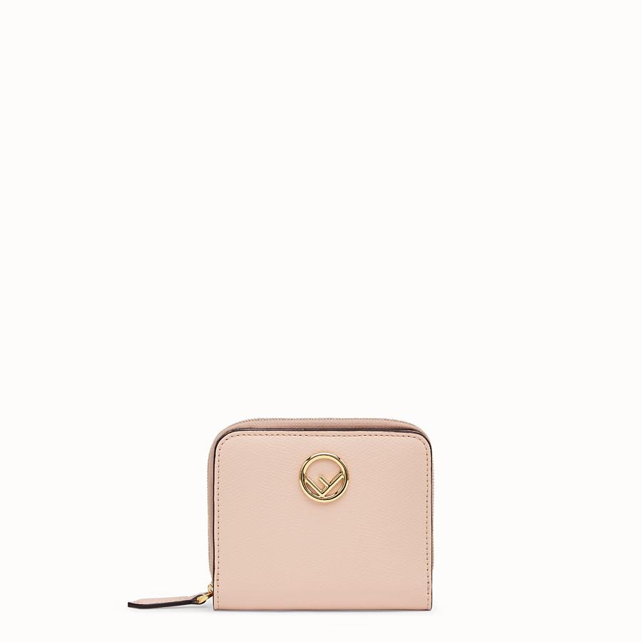 FENDI ZIP AROUND MEDIA - Portafoglio in pelle rosa - vista 1 dettaglio