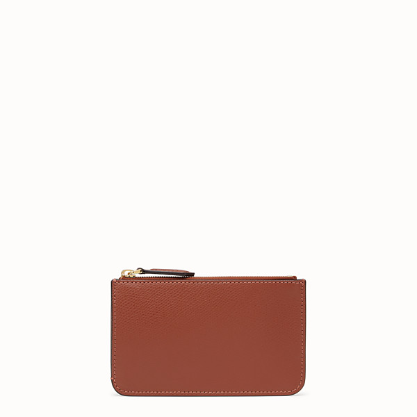 FENDI KEY RING POUCH - Red leather pouch - view 1 small thumbnail