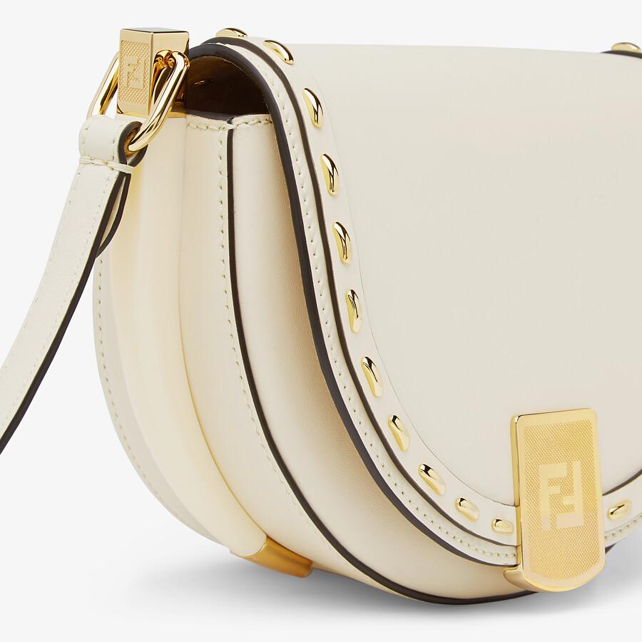 FENDI MOONLIGHT - White leather bag - view 6 detail