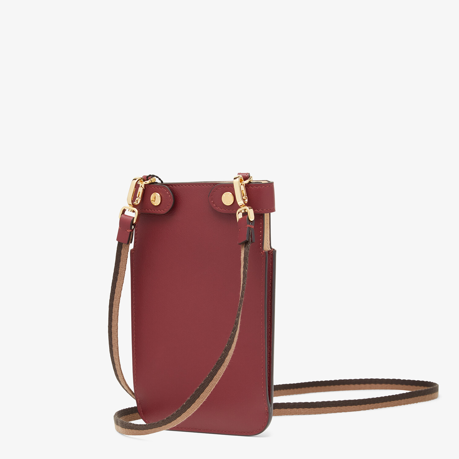 FENDI PEEK-A-PHONE - Burgundy leather pouch - view 2 detail