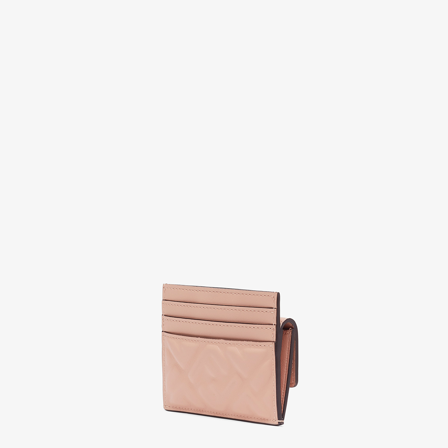 FENDI CARD HOLDER - Pink nappa leather card holder - view 2 detail