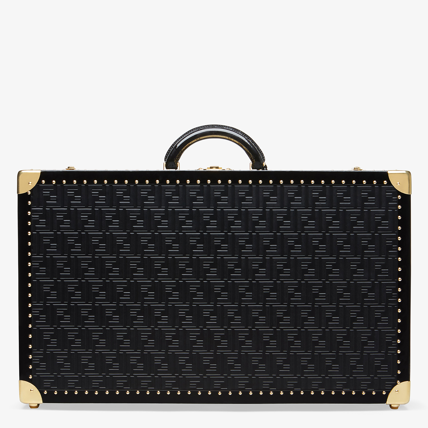 FENDI RIGID SUITCASE LARGE - Black leather suitcase - view 3 detail