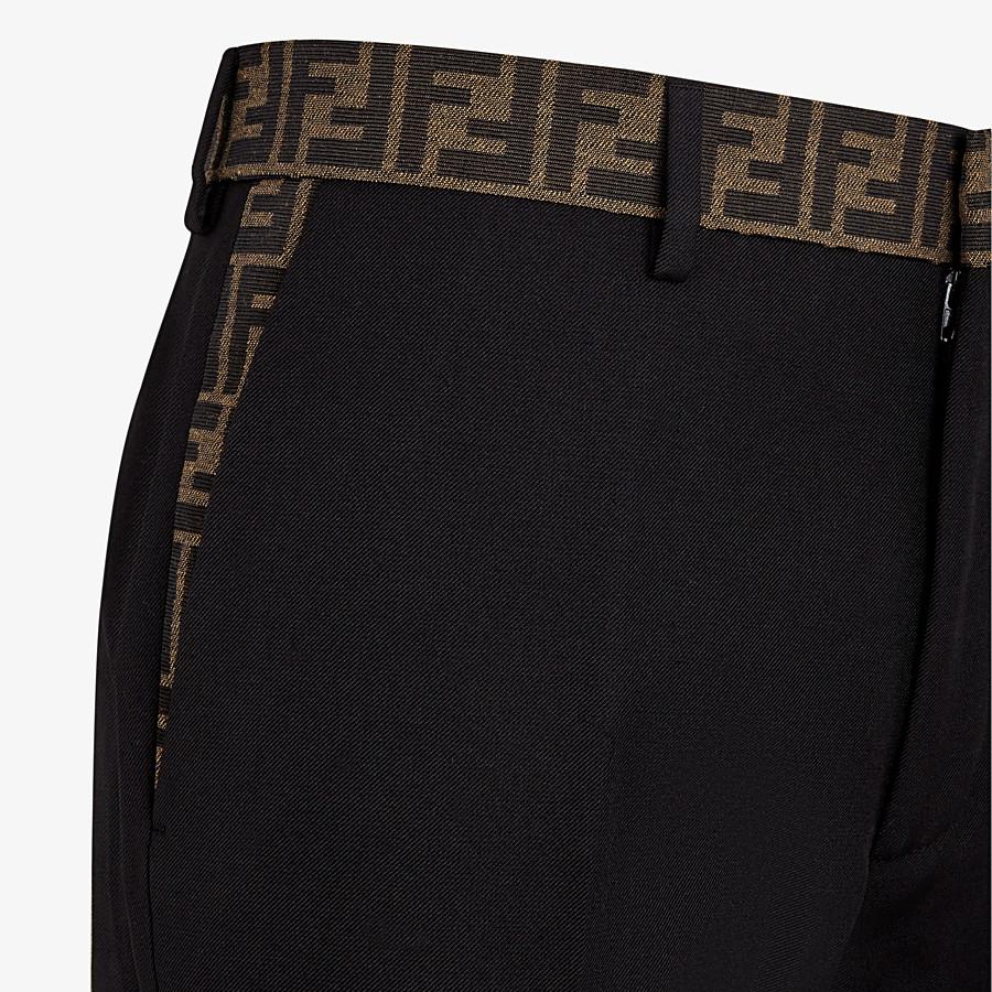 FENDI HOSE - Hose aus Gabardine in Schwarz - view 3 detail