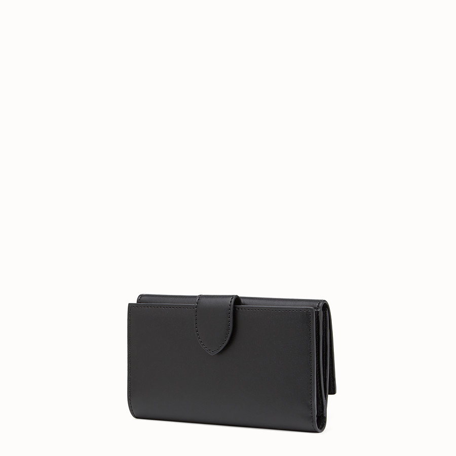 FENDI CONTINENTAL MEDIUM - Slim continental wallet in black leather - view 2 detail