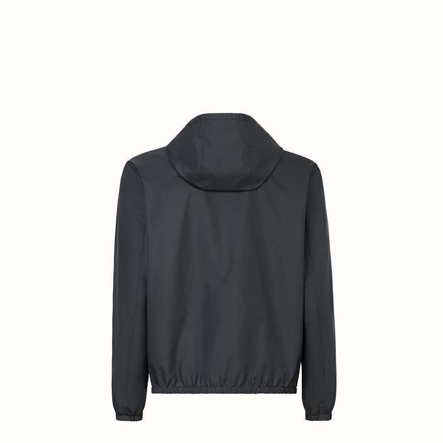 FENDI WINDBREAKER - Black nylon windbreaker - view 2 detail