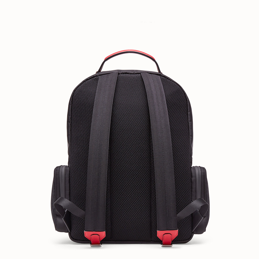 FENDI BACKPACK - Black tech fabric backpack - view 3 detail