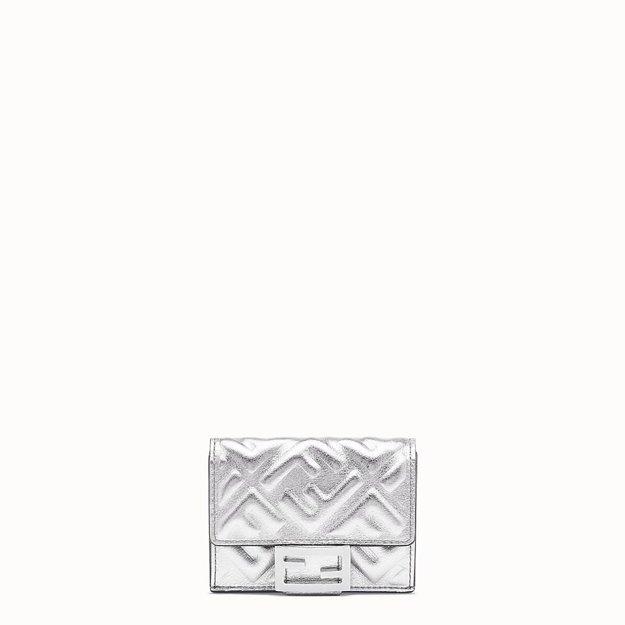 FENDI MICRO TRIFOLD - Portafoglio in pelle argento - vista 1 dettaglio