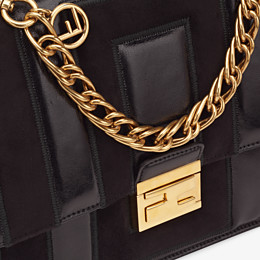FENDI KAN U - Black leather and suede bag - view 6 thumbnail