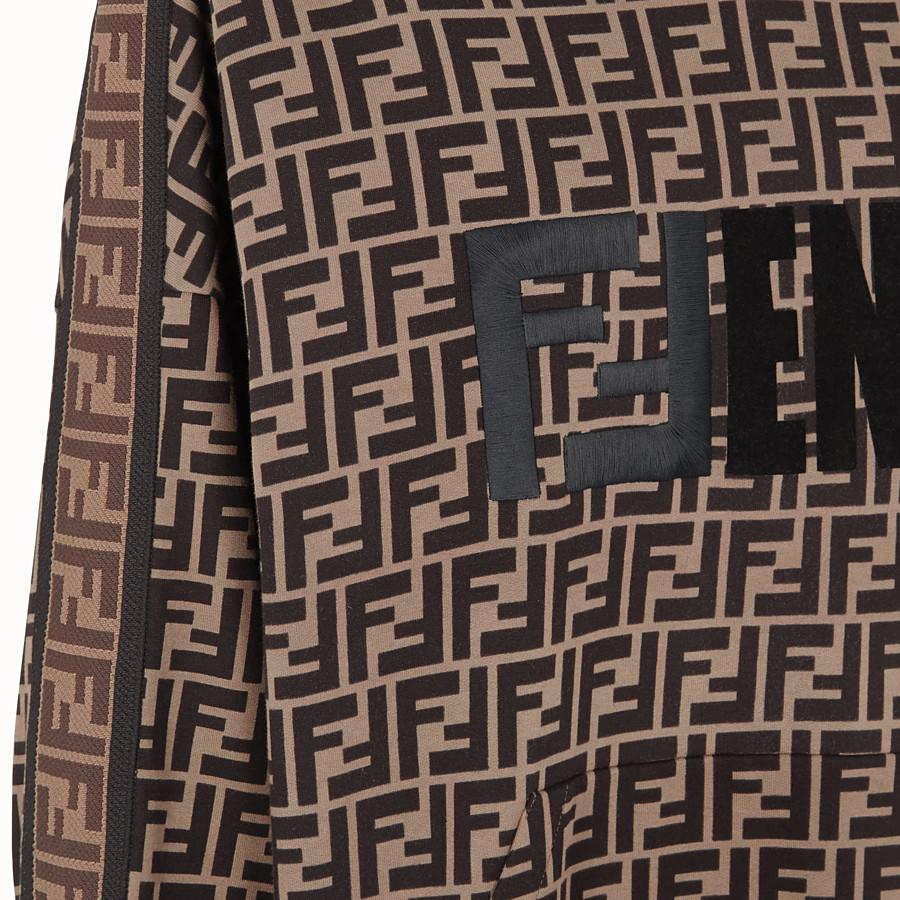 FENDI スウェットシャツ - マルチカラーコットン フーディ - view 3 detail