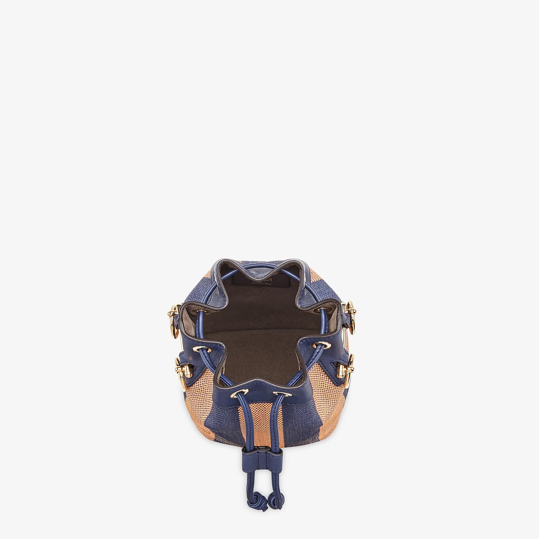 FENDI MON TRESOR - Blue raffia mini bag - view 4 detail