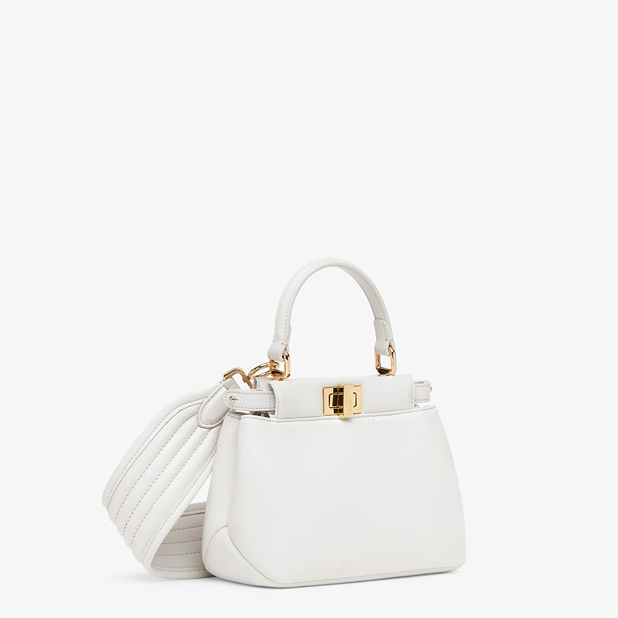 FENDI PEEKABOO ICONIC XS - White nappa leather bag - view 3 detail