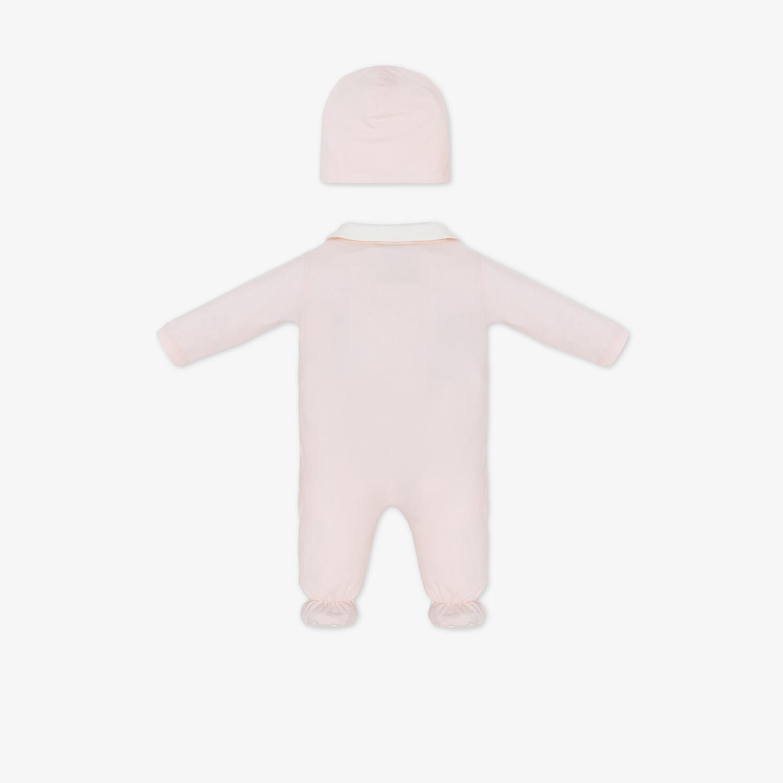 FENDI BABY SET - Pink jersey baby set - view 2 detail