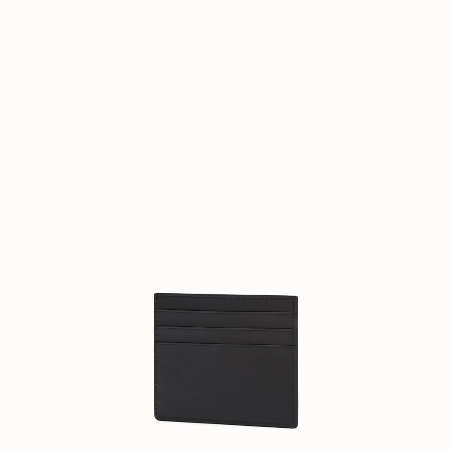 FENDI CARD HOLDER - Black leather card holder - view 2 detail