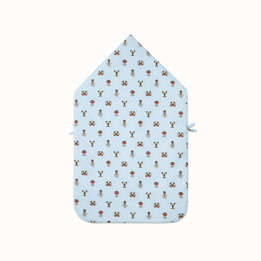 FENDI BABY SLEEPING BAG - Multicolour poplin and jersey baby sleeping bag - view 2 detail