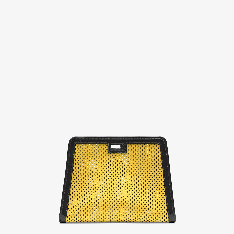 FENDI PEEKABOO DEFENDER PICCOLA - Cover per Peekaboo in pelle gialla - vista 3 dettaglio
