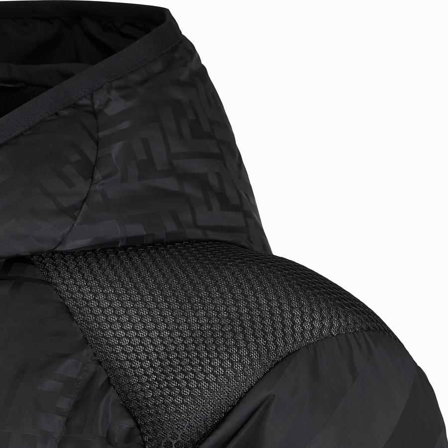 FENDI TECH FABRIC JUMPER - Black nylon jumper - view 3 detail