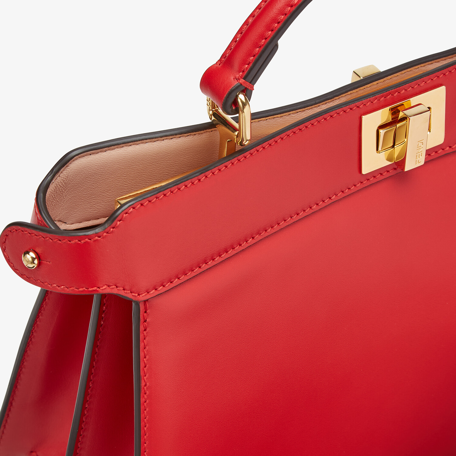 FENDI PEEKABOO ISEEU EAST-WEST - Red leather bag - view 6 detail