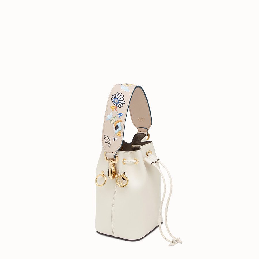 FENDI MINI STRAP YOU - Embroidered leather shoulder strap - view 2 detail