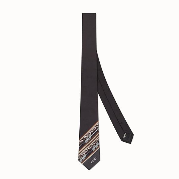FENDI TIE - Black silk necktie - view 1 small thumbnail