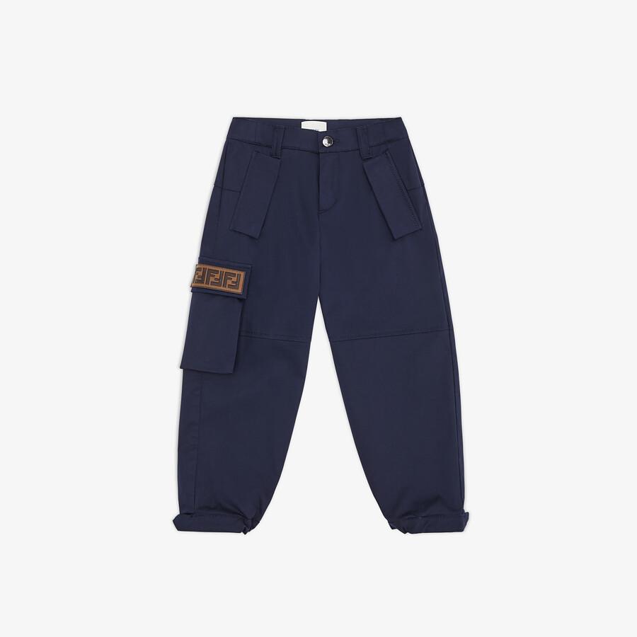 FENDI JUNIOR HOSE - Junior-Hose aus Baumwolle in Marineblau - view 1 detail