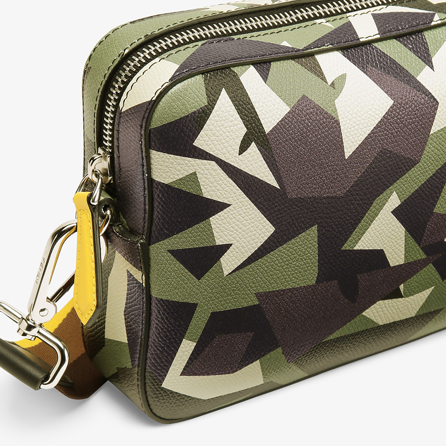 FENDI CAMERA CASE - Green leather bag - view 5 detail