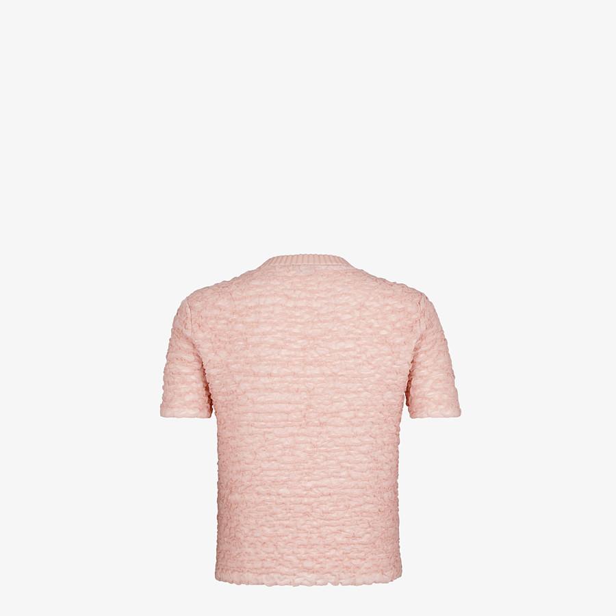FENDI JUMPER - Pink viscose jumper - view 2 detail