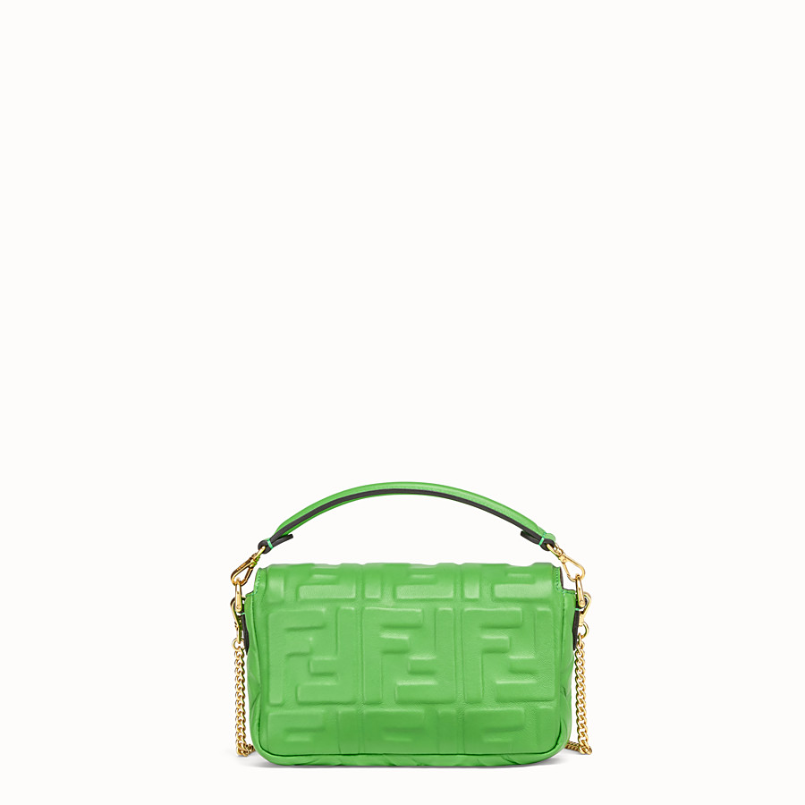 FENDI BAGUETTE - Green nappa leather bag - view 4 detail