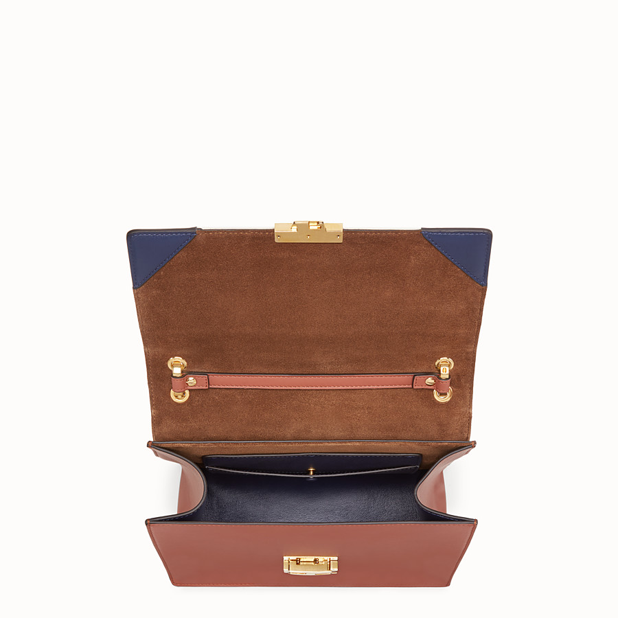 FENDI KAN U - Multicolour canvas and leather bag - view 4 detail