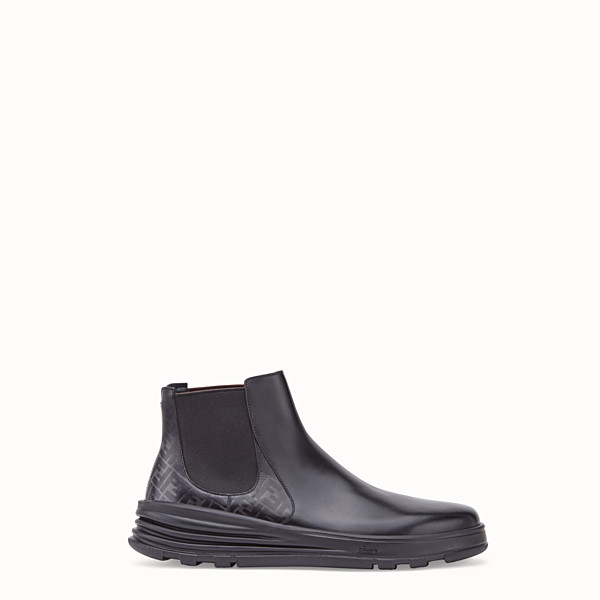 FENDI CHELSEA - Black leather ankle boots - view 1 small thumbnail