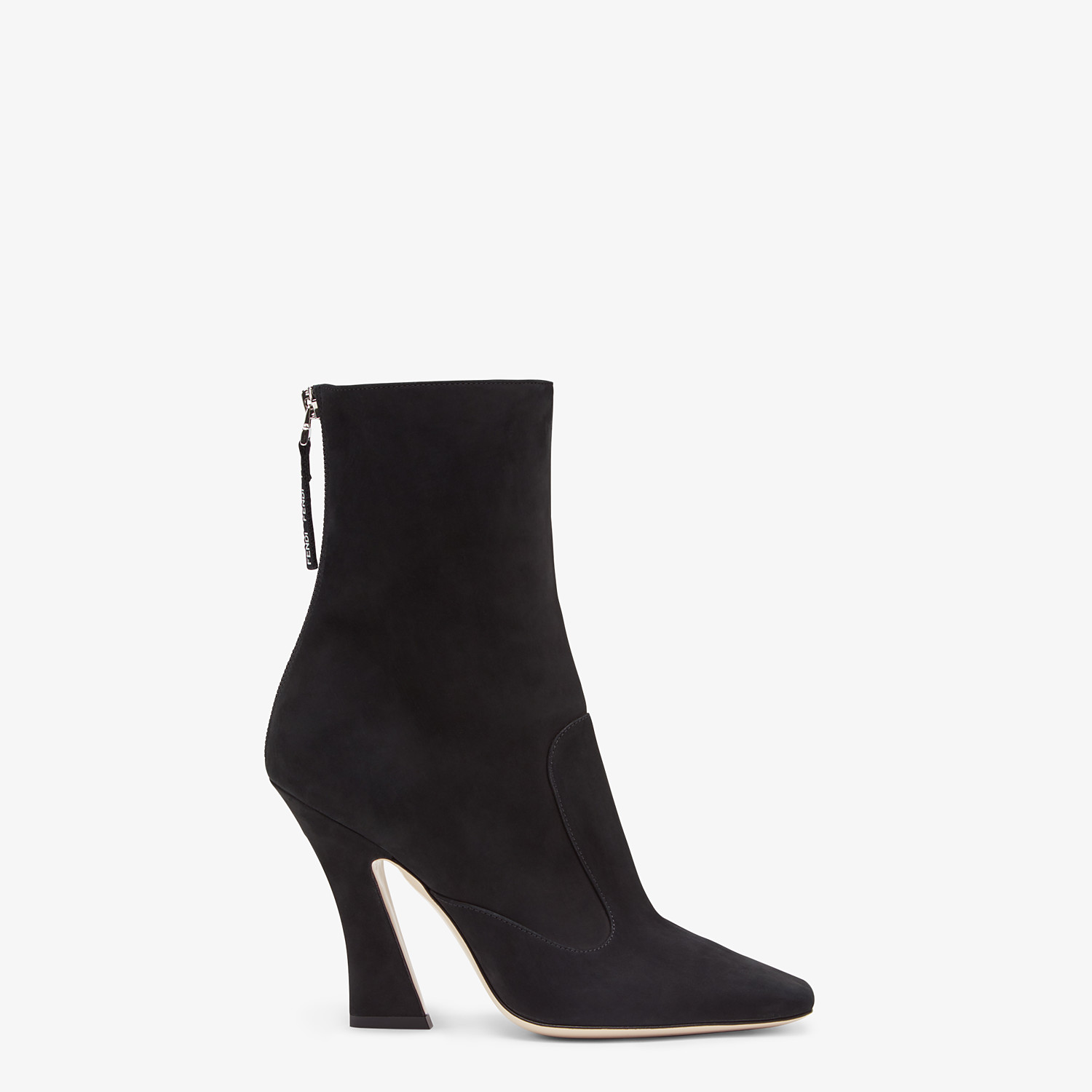 FENDI ANKLE BOOTS - Black nubuck booties - view 1 detail
