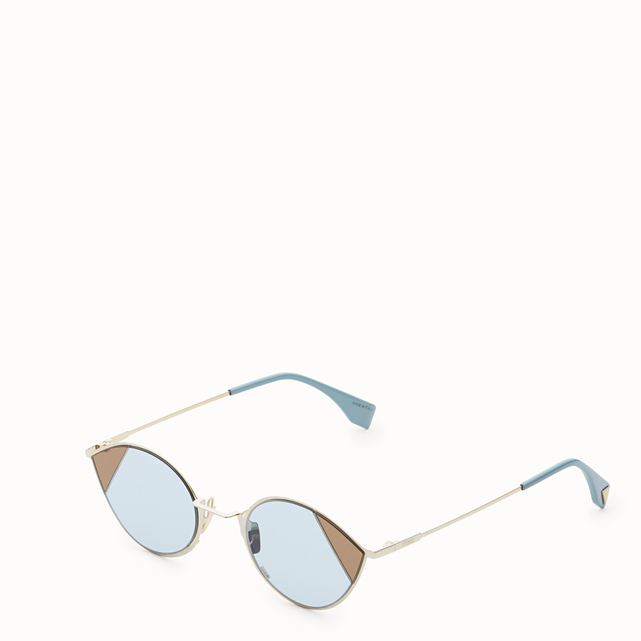 FENDI CUT-EYE - Gold-colour sunglasses - view 2 detail