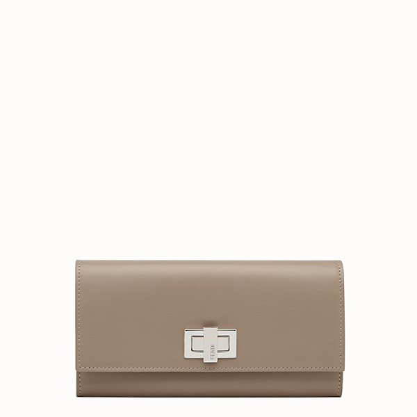 FENDI PEEKABOO CONTINENTAL WALLET - Continental wallet in grey leather - view 1 small thumbnail