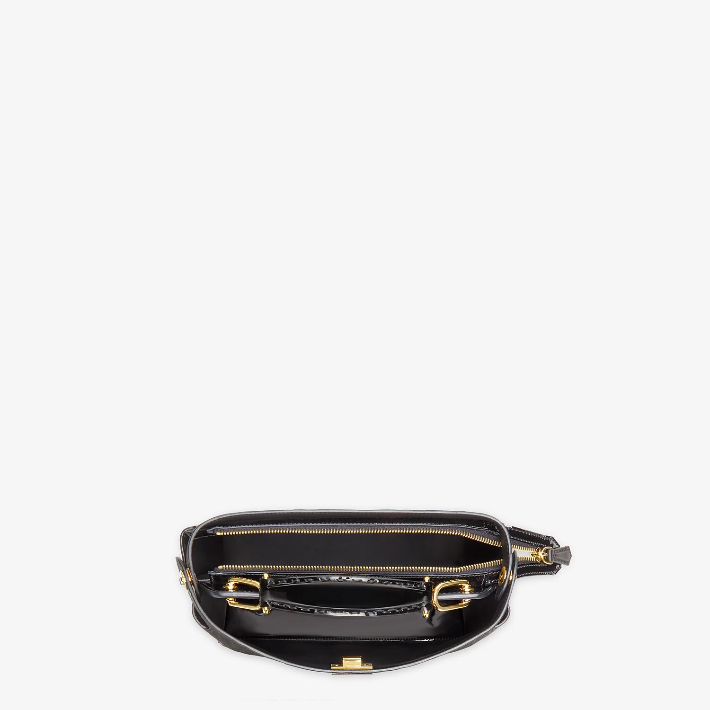 FENDI PEEKABOO ICONIC MINI TRUNK - Black leather bag - view 5 detail