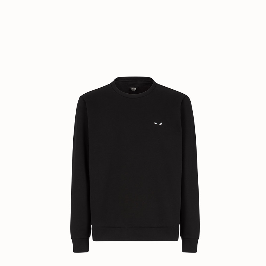 FENDI SWEATSHIRT - Black cotton sweater - view 1 detail