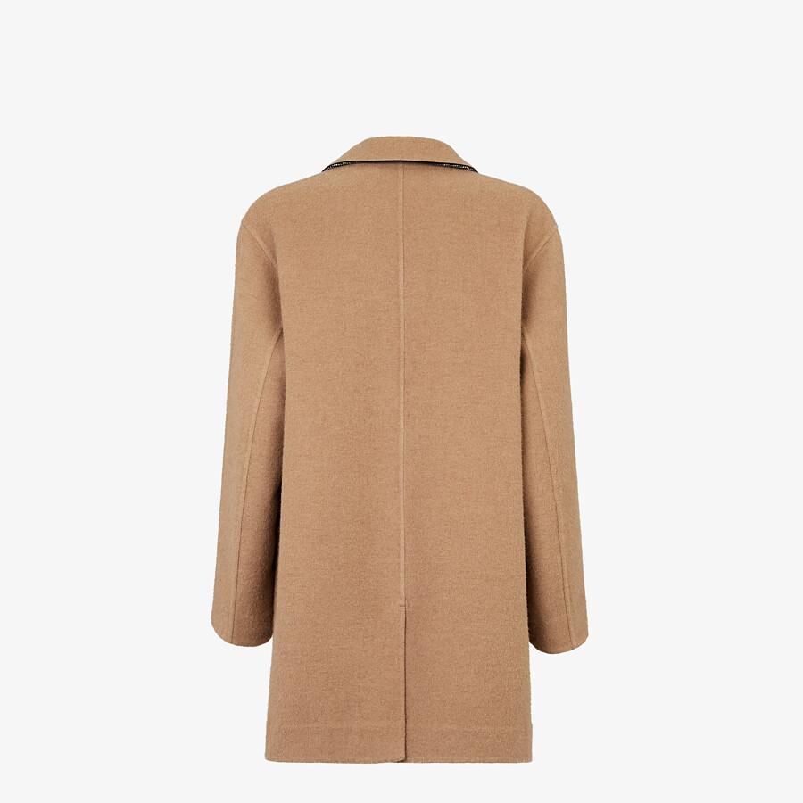 FENDI COAT - Beige wool coat - view 2 detail